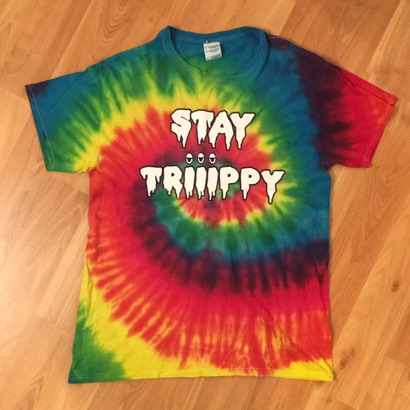 Top Head Culture Tops Trippy Tie Dye Psychedelic Rainbow Colorful